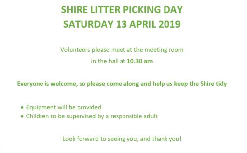litter picking day 2019