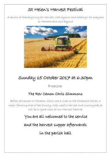 Harvest festival 2017 article and flyer 2